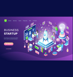 Business startup online web banner invention vector