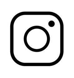 Camera icon social media sign icon vector