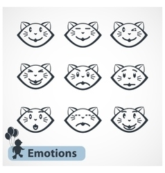 Cat Faces vector image