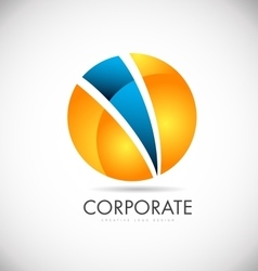 Corporate orange blue sphere logo icon design vector