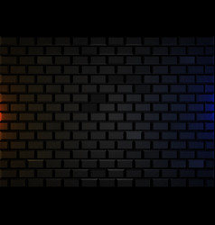 dark brick wall background retro backdrop loft vector image