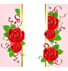 decorative vertical banner for valentines day vector image