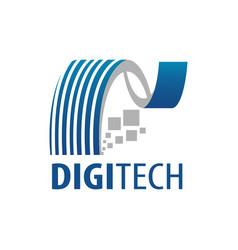 digital technology logo concept design symbol vector image