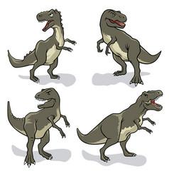 dinosaurs set 001 vector image