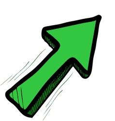 Direction arrow vector image