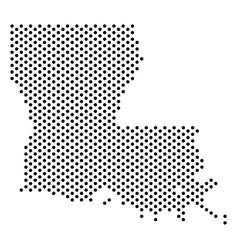 Dot louisiana state map vector