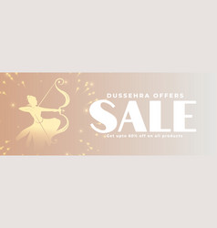 dussehra sale and offer banner for marketing vector image