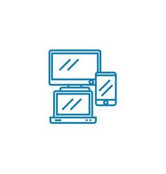 Electronics linear icon concept electronics line vector