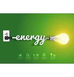 Energy saving and simple light bulb vector image