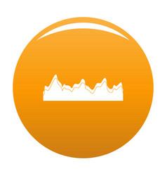 Equalizer song radio icon orange vector
