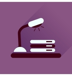 Flat icon with long shadow lamp documents vector