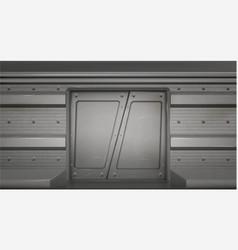 futuristic metal sliding doors in spaceship vector image