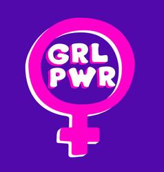 girl power motivational slogan vector image