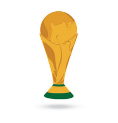 gold world cup trophy isolated on white background vector image