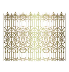 Golden forged fence vector