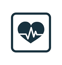 heart pulse icon Rounded squares button vector image
