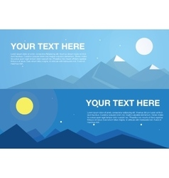 Horizontal mountains banners vector image