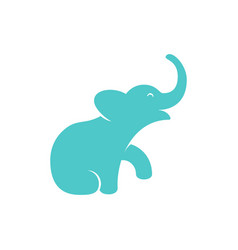 isolated elephant calf logo mammoth calf vector image