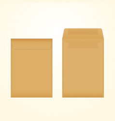 isolated opened and closed brown envelopes vector image