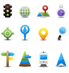 Location and map icons vector