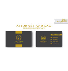 Luxury law business card design template vector