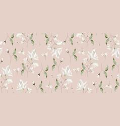 magnolia flower blossom seamless pattern vector image