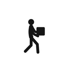 man moving box pictogram icon design man moving vector image