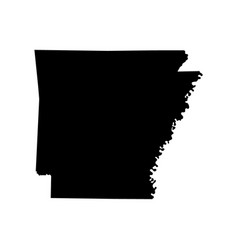 map of the us state of arkansas vector image