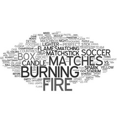 match word cloud concept vector image
