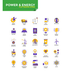 Modern material flat design icons - power and vector