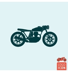 Motorcycle icon isolated vector image