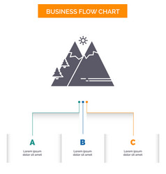 mountains nature outdoor sun hiking business flow vector image