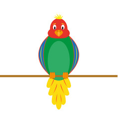 Multi-colored funny parrot vector