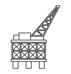 Oil platform icon outline style vector image