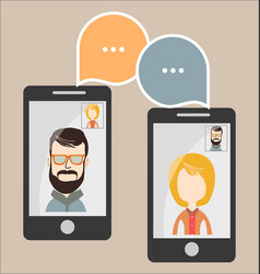 online chat man and woman vector image