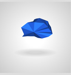 polygonal blue cloud with shadow vector image
