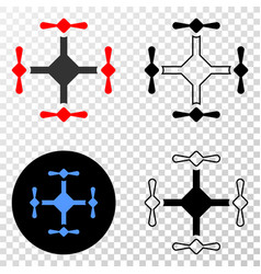 quadcopter eps icon with contour version vector image