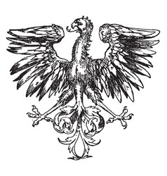Renaissance heraldic eagle is a component of a vector