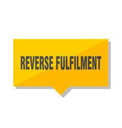 Reverse fulfilment price tag vector