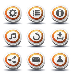 Road sign icons and buttons for ui game vector