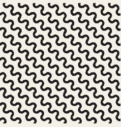 roughly drawn wavy stripes stylish graphic texture vector image