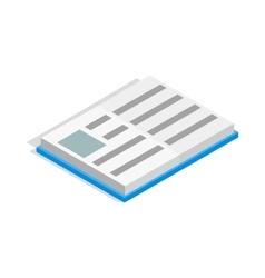 School book icon isometric 3d style vector
