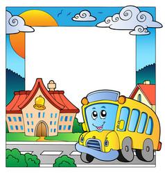 School theme frame 5 vector