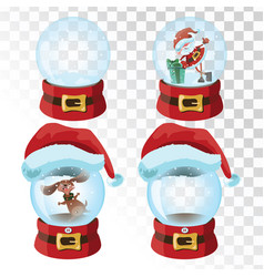 set christmas magic balls a collection of vector image