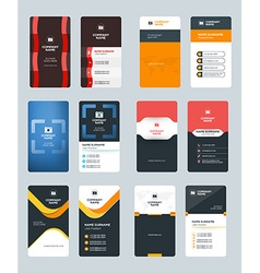 Set creative and clean vertical business card vector
