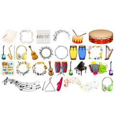 set music instrument vector image