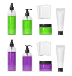 Set of plastic container vector