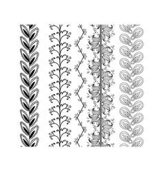 Set ornamental borders decorative elements vector