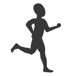 silhouette of person jogging vector image