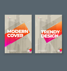 Soft brochure design cover template for brochure vector